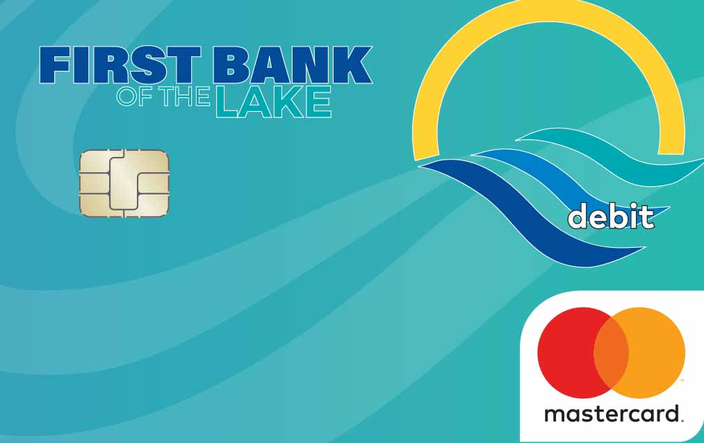 First Bank of the Lake debit card.
